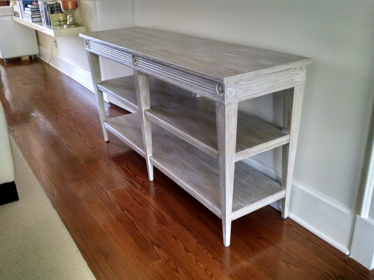 Faux Distressed Pickled Wood Cabinet Paintscape Designs Inc